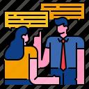 bubble, communication, conversation, message, speech, talk