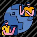 communication, world, connection, worldwide, network, global icon