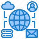 network, world, communication, mail, cloud