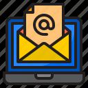 email, mail, laptop, communication, envelope