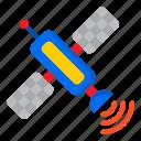 satellite, signal, communication, network, space