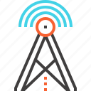 antenna, communication, internet, signal, tower, wifi, wireless icon