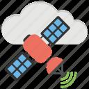 cloud computing, internet satellite, satellite communication, space antenna, wireless satellite icon