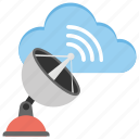 radar, satellite, satellite antenna, satellite dish, technology icon