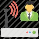 wifi administrator, wifi hotspot, wifi modem, wifi router, wifi zone icon
