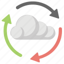 cloud computing, cloud development, cloud process, cloud service, cloud sync icon