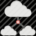 cloud backups, cloud computing, cloud network, cloud service, cloud storage icon