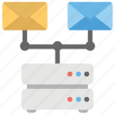 directory server, email marketing, email networking, mail server, mail services icon