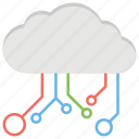 big data, cloud computing, cloud network, cloud sharing, integrate cloud icon