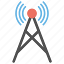 hotspot tower, network tower, signal tower, wifi tower, wireless antenna icon