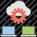 big data, cloud database, cloud network, cloud storage, data center icon