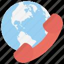 communication satellite, global communication, international call, international dialing, world communication icon