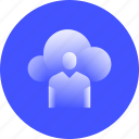 cloud, meeting, online, messaging, platform, video, conference icon