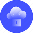 cloud, security, lock, network, protection, protect, data, connection