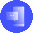 messaging, mobile, phone, sms, instant, message, chat icon