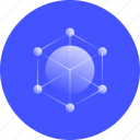 networking, global, area, network, communication, database, system icon