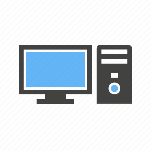 computer, desktop, keyboard, monitor, mouse, screen, technology icon