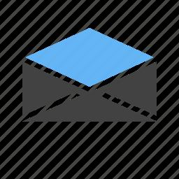 address, communication, correspondence, email, envelope, letter, mail icon