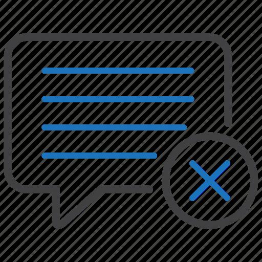 bubble, cancel, chat, message icon