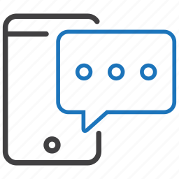 chat, message, phone, talk icon