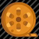 film, film reel, movie film, reel icon