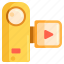 camera, handycam, recording, video recording icon