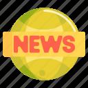 live, news, news headlines icon