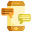 messaging, mobile, mobile messaging icon