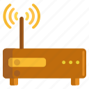 broadband, internet connection, modem, receiver icon