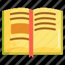 book, open book, read, reading icon