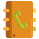 book, contact list, contacts, phone, phone book icon