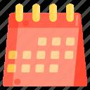 calendar, planner, table calendar icon