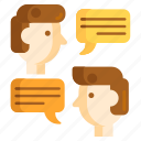 chat, chatting, discuss, talking icon