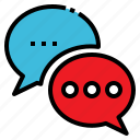 bubble, chat, communication, speak, talk icon