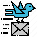 carrier, communication, mail, news, pigeon