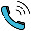 call, communication, phone, speak, telephone icon