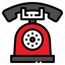 call, communication, phone, retro, telephone icon