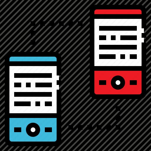 data, mobile, phone, smartphone, transfer icon
