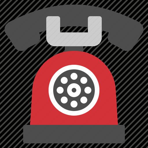 call, communication, phone, retro, telephone icon