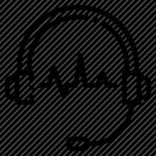 call, earphone, headphone, headset, service icon