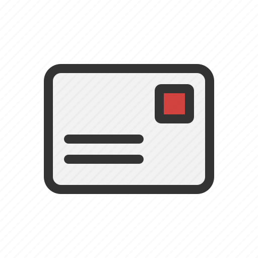 letter, post, postcard, snail mail icon