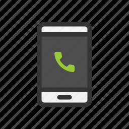 call, phone, screen, smartphone icon