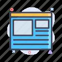 communication, landing, page, web
