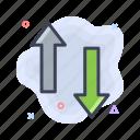 arrow, communication, data, network