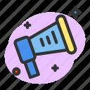 boradcast, communication, horn, loudspeaker, message icon