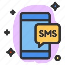 communication, mail, message, mobile, phone, sms, talk icon