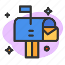 communication, envelope, letter, mail, message, post icon