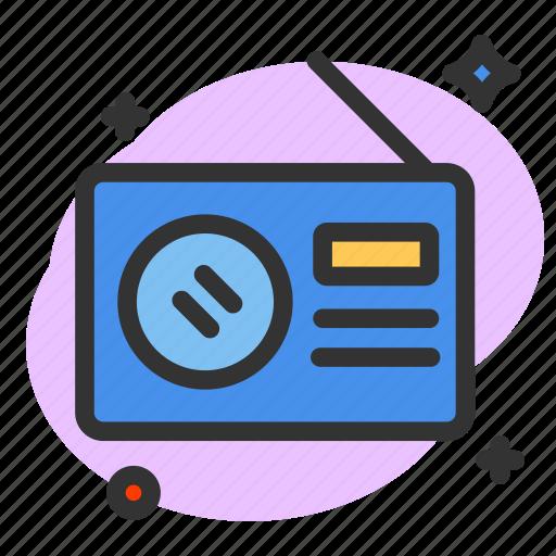 audio, communication, multimedia, music, player, radio, tape icon