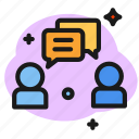 bubble, chatting, communication, conversation, speaking, talk, talking icon