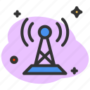 communication, connection, network, sender, signal, tower, transmitter icon